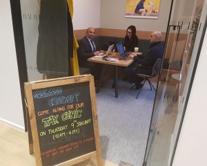Tax clinic at Barclays Bank, Clapham Junction